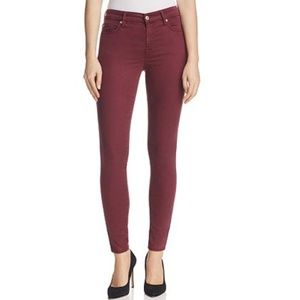 B2G1 7 For All Mankind Maroon B(Air) Skinny Jeans